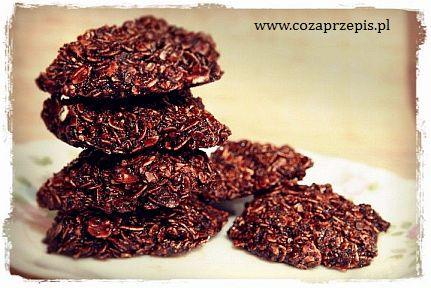 Ciasteczka owsiane w masie kakaowej, bez pieczenia (haferflocken)