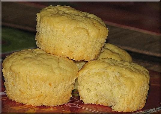 Muffinki cytrynowe na jogurcie