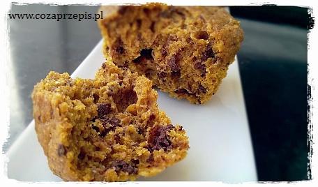 Muffinki dyniowo – pomarańczowe z czekoladą