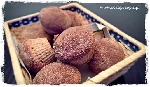 """Muffinki """"jak pączki"""" – english doughnut muffins"""